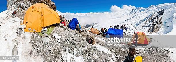 Mera ピークのキャンプパノラマヒマラヤ山脈