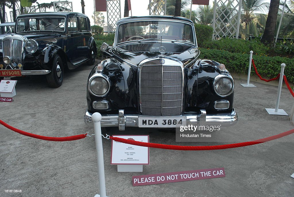 Mercedes 1959 3000D Vintage car taking part in Third Cartier Travel With Style Concours D'Elegance Vintage car show at 2013 Taj Lands End on February 10, 2013 in Mumbai, India.