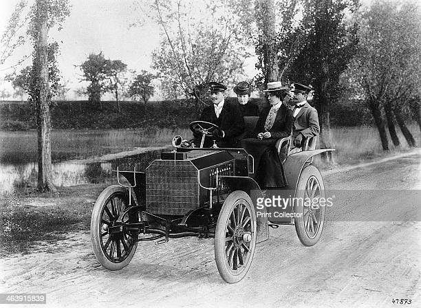 Mercedes 35 hp motor car 1901 Designed by Wilhelm Maybach and manufactured by the Daimler Motoren Gesellschaft of Cannstatt Germany these cars marked...