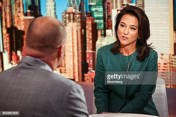 Mercedes Abramo chief executive officer of Cartier North America speaks during a Bloomberg Television interview in New York US on Thursday Sept 15...