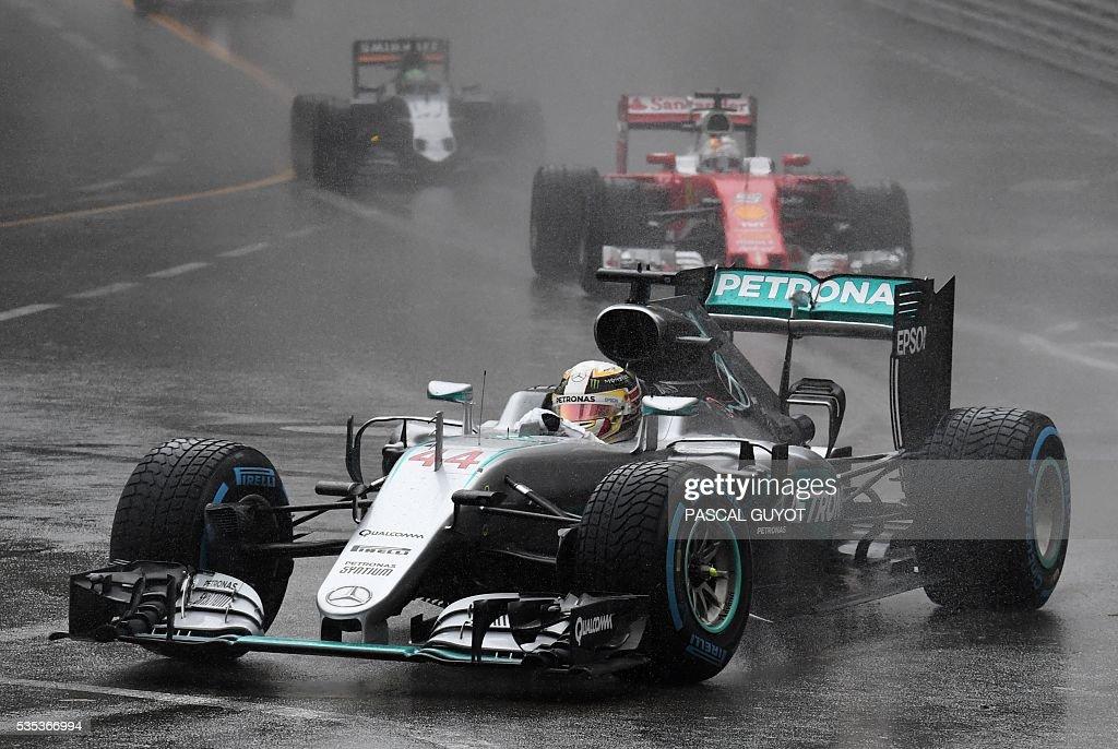 Mercedes AMG Petronas F1 Team's British driver Lewis Hamilton drives at the Monaco street circuit, on May 29, 2016 in Monaco, during the Monaco Formula 1 Grand Prix.