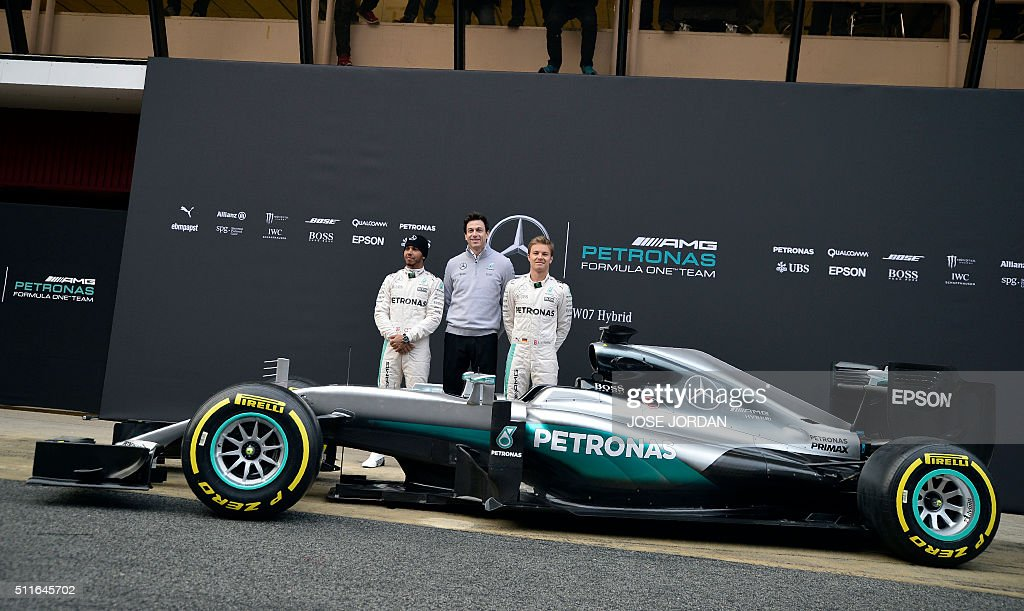 F1 testing in barcelona day one getty images for Mercedes benz f1 drivers