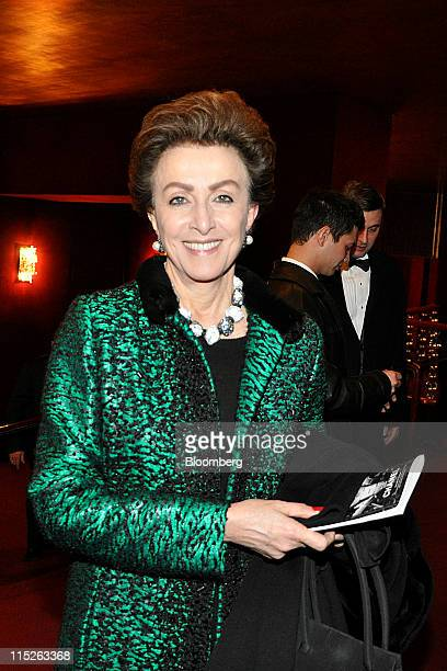 Mercedes Bass managing director of Metropolitan Opera stands for a photograph at the opening of the 'Nixon in China' opera in New York US on...