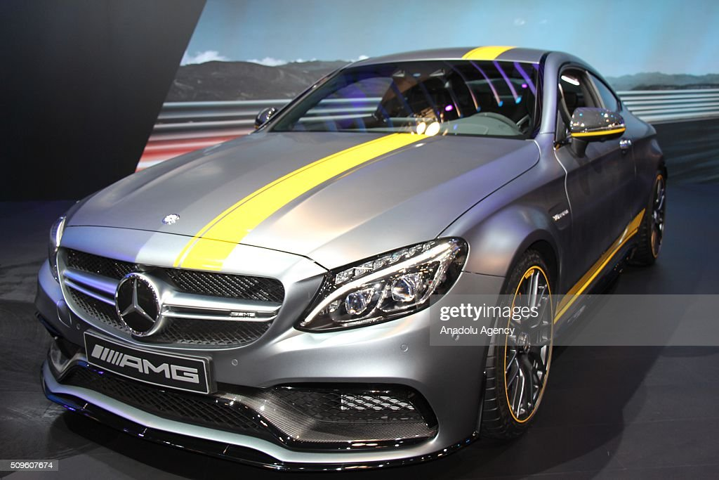 A Mercedes Benz C 63 is on display during the Canada Auto Show at Toronto Metro Convention Center in Toronto, Canada on February 11, 2016.