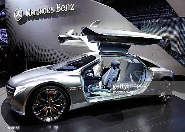 Mercedes Benz concept car F125 is pictured during the press days at the IAA Frankfurt Auto Show on September 14 2011 in Frankfurt am Main Germany The...