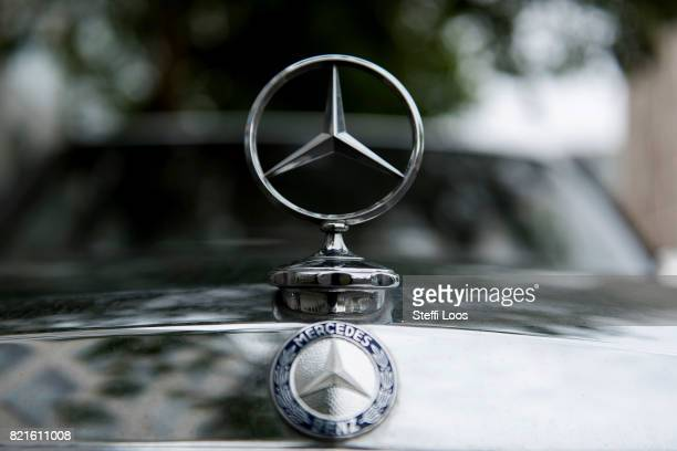 Mercedes car parks on July 24 2017 in Berlin Germany Germany's biggest car companies VW Audi Porsche BMW and Daimler are being investigated on...