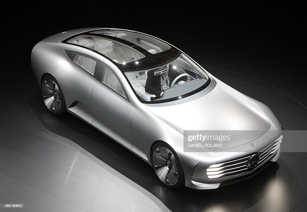 A mercedes concept prototype show car is pictured during a - Mercedes car show ...