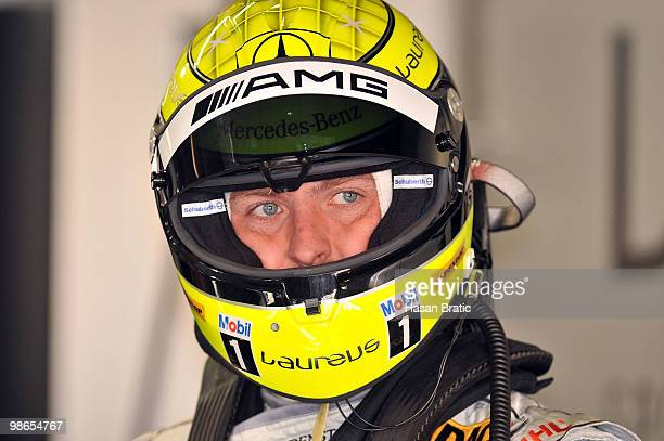 Mercedes driver Ralf Schumacher of Germany seen during the warm up of the DTM 2010 German Touring Car Championship on April 25 2010 in Hockenheim...