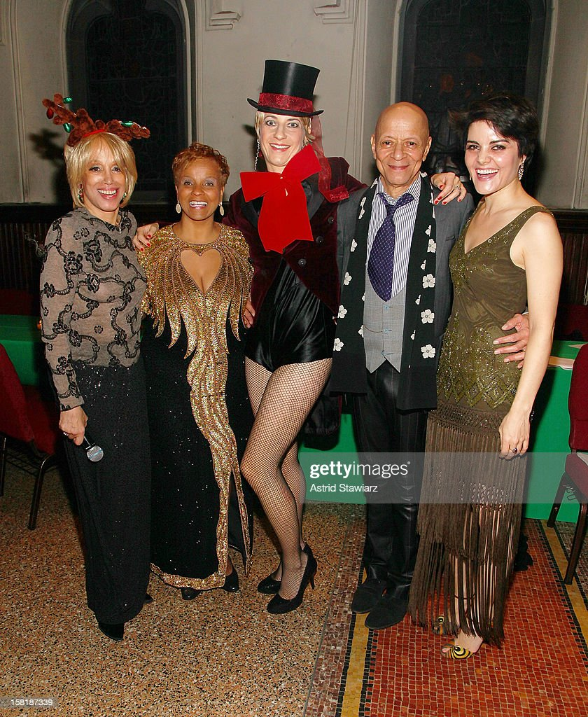 Mercedes Ellington, Antoinette Montague, Adrienne Haan, Marion Cowings and Andrea Wright attend the Duke Ellington Center For The Arts 'Ring Dem Bells!' Holiday Party at Landmark on the Park on December 10, 2012 in New York City.