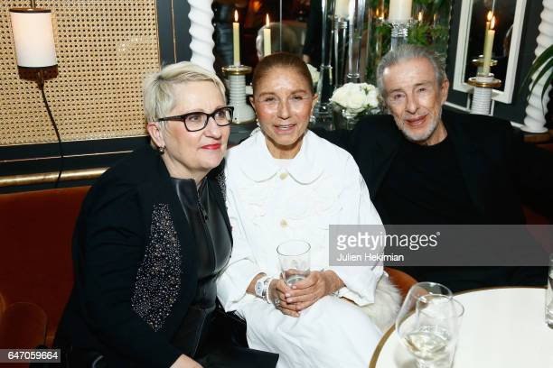Mercedes Erra Perla ServanSchreiber and JeanLouis ServanSchreiber attend the Mastermind Magazine launch dinner as part of Paris Fashion Week...