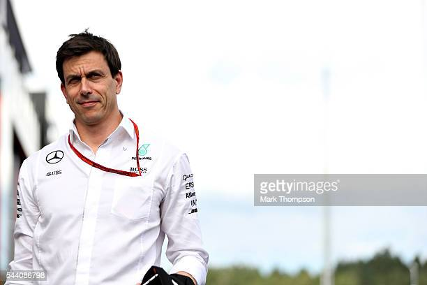 Mercedes GP Executive Director Toto Wolff in the Paddock during practice for the Formula One Grand Prix of Austria at Red Bull Ring on July 1 2016 in...