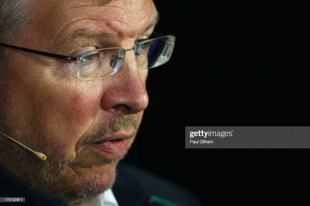 Mercedes GP Team Principal Ross Brawn attends the official press conference following practice for the Canadian Formula One Grand Prix at the Circuit...