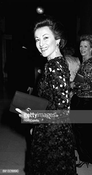 Mercedes Kellogg attends A Decade of Literary Lions Benefit Gala on November 8 1990 at the New York Public Library in New York City