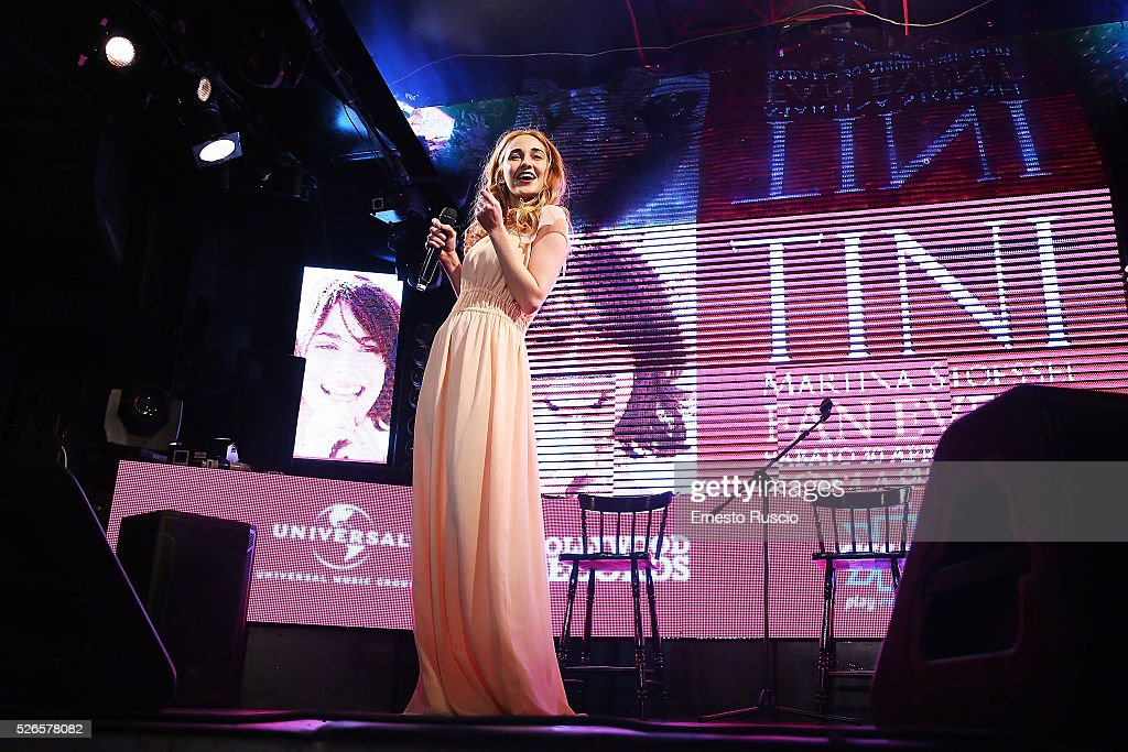 Mercedes Lambre attends the 'Meet And Greet With Tini' at Qube on April 30, 2016 in Rome, Italy.