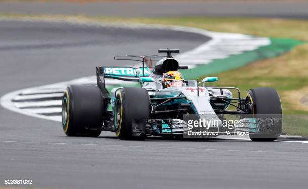 Mercedes Lewis Hamilton during second practice of the 2017 British Grand Prix at Silverstone Circuit Towcester