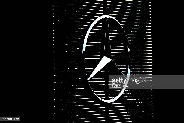 Mercedes Logo during the Formula One Grand Prix of Austria at Red Bull Ring on June 21 2015 in Spielberg Austria