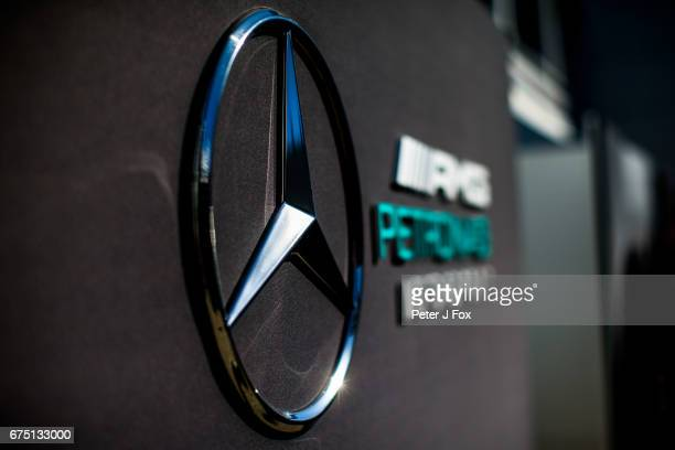 Mercedes Logo during the Formula One Grand Prix of Russia on April 30 2017 in Sochi Russia