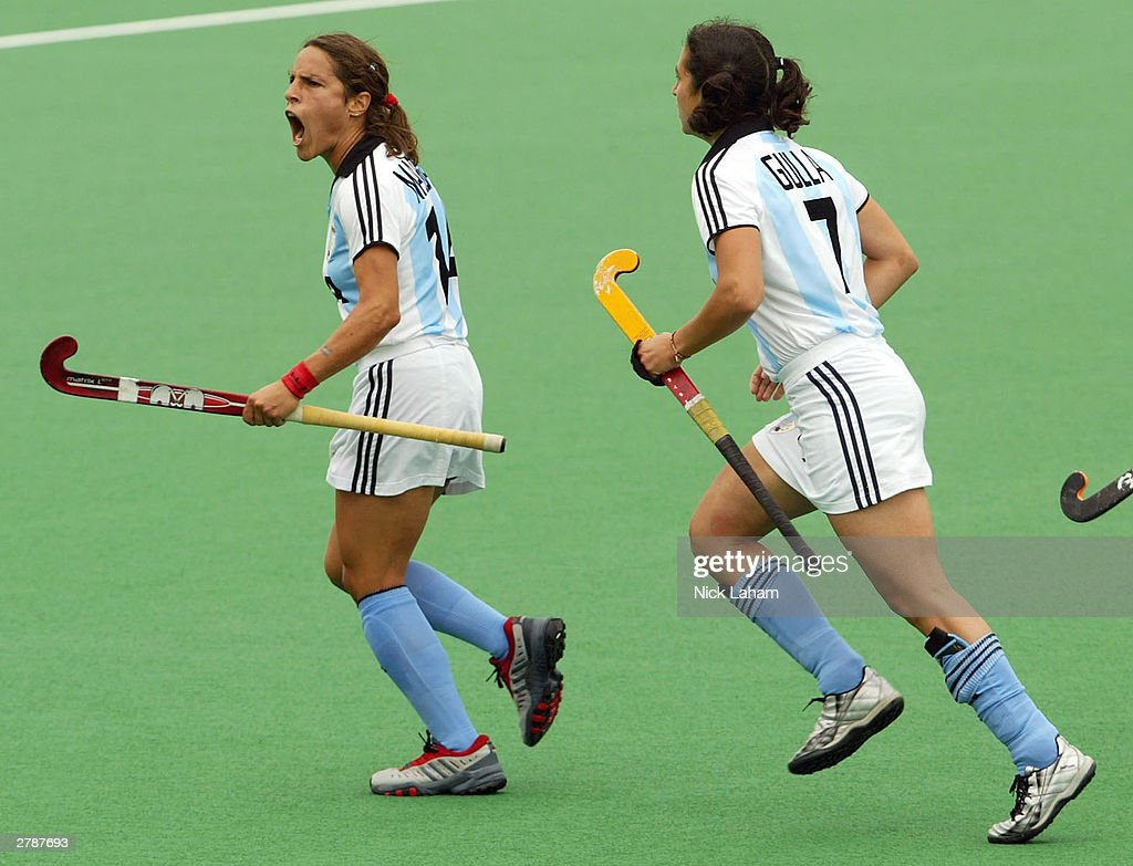 Mercedes Margalot Of Argentina Celebrates Her Goal During The 2003 Womens BDO Hockey Champions Trophy Match