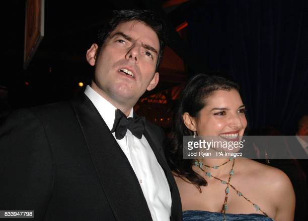 Mercedes Martinez and Chris Weitz at the Golden Compass World Premiere afterparty at the Tobacco Docks in London