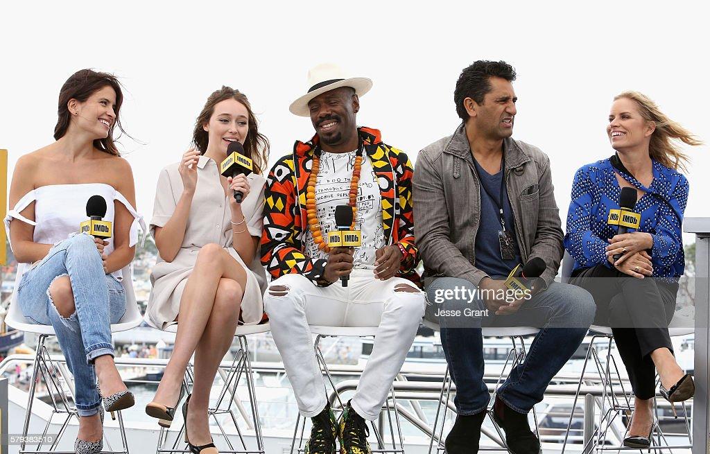 Mercedes Masohn Alycia DebnamCarey Coleman Domingo Cliff Curts and Kim Dickens attend AMC at ComicCon on July 23 2016 in San Diego California