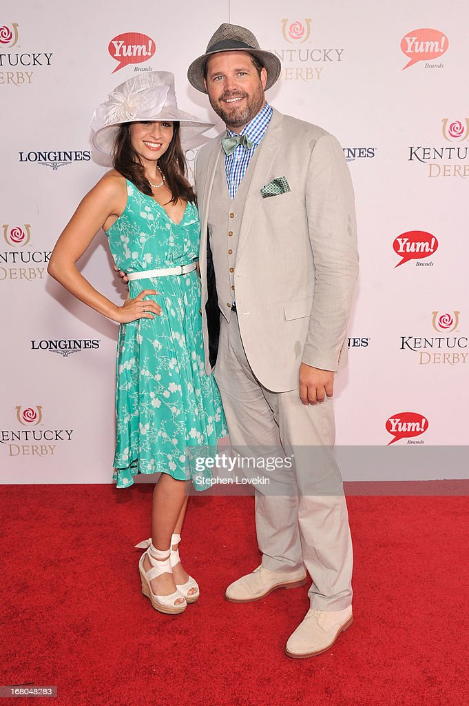 Mercedes Masohn and David Denman attend the 139th Kentucky Derby at Churchill Downs on May 4 2013 in Louisville Kentucky