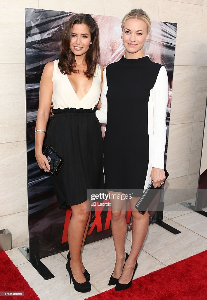 Mercedes Masohn and Yvonne Strahovski attend the 'Dexter' series finale season premiere party at Milk Studios on June 15 2013 in Hollywood California