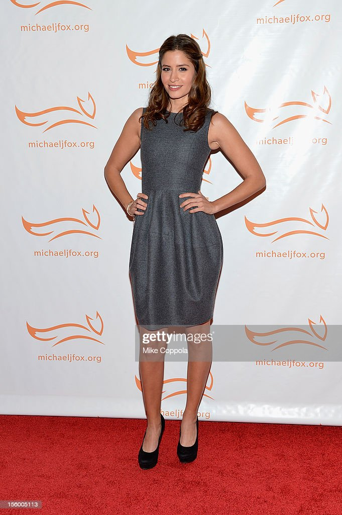 Mercedes Masohn on the red carpet at the 2012 A Funny Thing Happened On The Way To Cure Parkinson's event at The Waldorf=Astoria on November 10 2012...