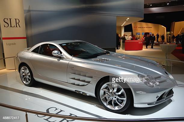 Mercedes McLaren SLR sports car front view