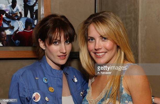 Mercedes McNab and Katherine Cower during Movieline Magazine and California Artists for Humanity at Nacional in Los Angeles California United States