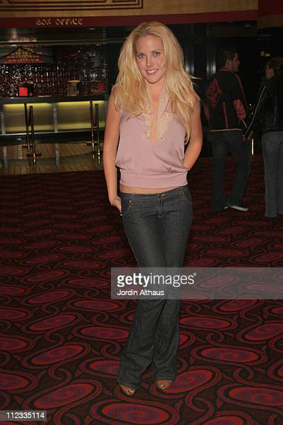 Mercedes McNab during 'Behind the Mask' Hollywood Premiere at Mann Chinese Theater in Hollywood California United States