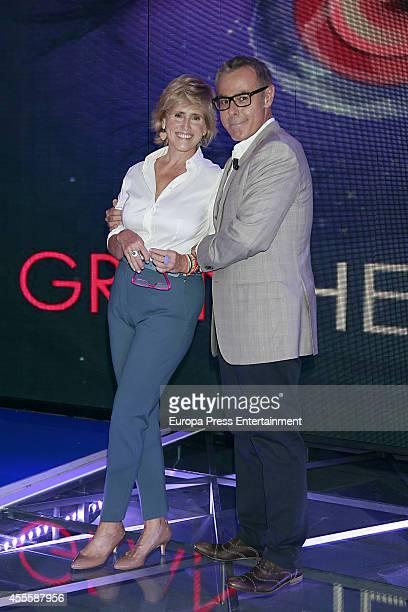 Mercedes Mila and Jordi Gonzalez attend 'Gran Hermano' programme presentation on September 16 2014 in Madrid Spain