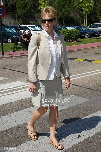 Mercedes Mila attends the funeral chapel for the journalist Concha Garcia Campoy at La Paz Morgue on July 12 2013 in Madrid Spain