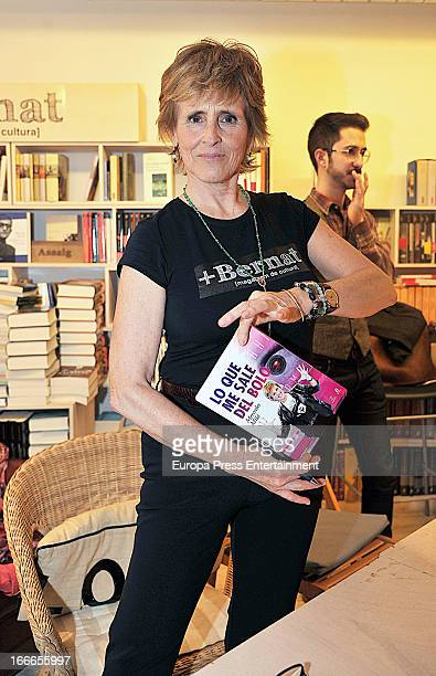 Mercedes Mila celebrates her 62th birthday during the presentation of her book 'Lo que me sale del bolo' on April 5 2013 in Barcelona Spain