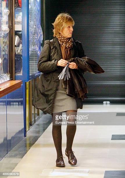 Mercedes Mila is seen on December 10 2013 in Madrid Spain