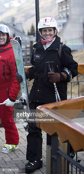 Mercedes Mila is seen on January 2 2016 in Baqueira Beret Spain