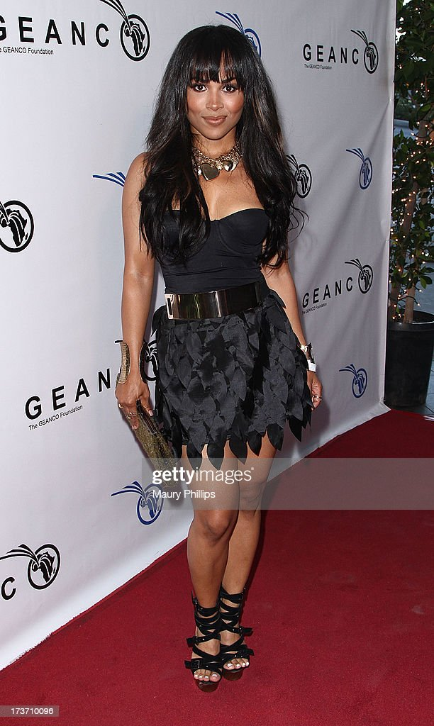 Mercedes Nelson arrives at The GEANCO Foundation's 'Impact Africa' Fundraiser at Bootsy Bellows on July 16, 2013 in West Hollywood, California.