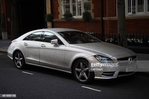 9b6053b79181 Mercedes SClass which has been covered in Swarovski crystals is pictured on  July 21 2015 in