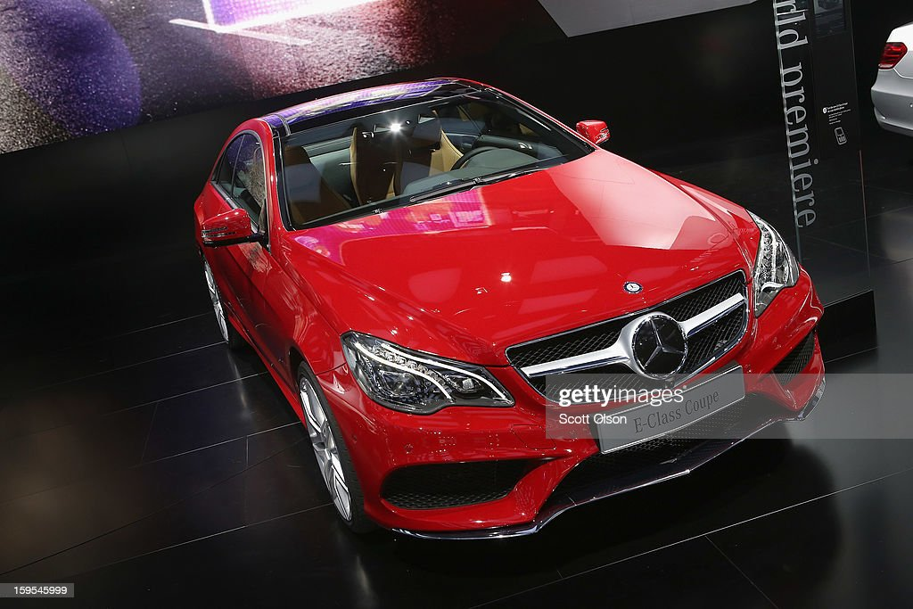 Mercedes shows off their new E-Class Coupe during the media preview at the North American International Auto Show on January 15, 2013 in Detroit, Michigan. The auto show will be open to the public January 19-27.