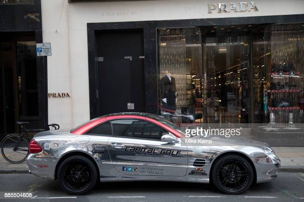 Mercedes sports car on Bond Street in London England United Kingdom Cars like this are often seen parked on this exclusive shopping street for the...