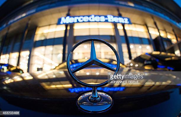 A Mercedes symbol is pictured in front of the MercedesBenz's Shanghai office on August 5 2014 German car company Daimler said on August 5 it was...