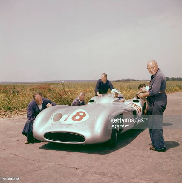 Mercedes W196 Silver Arrow car that Fangio drove on the Rheims circuit in 1954