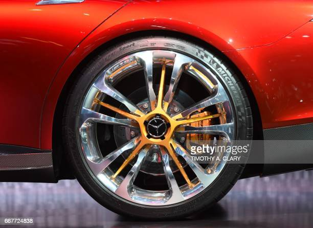 MercedesAMG GT Concept car during the first press preview day at the 2017 New York International Auto Show April 12 2017 at the Jacob Javits Center...
