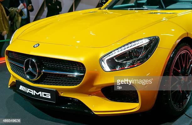 メルセデス AMG GT クーペスポーツ車の前部