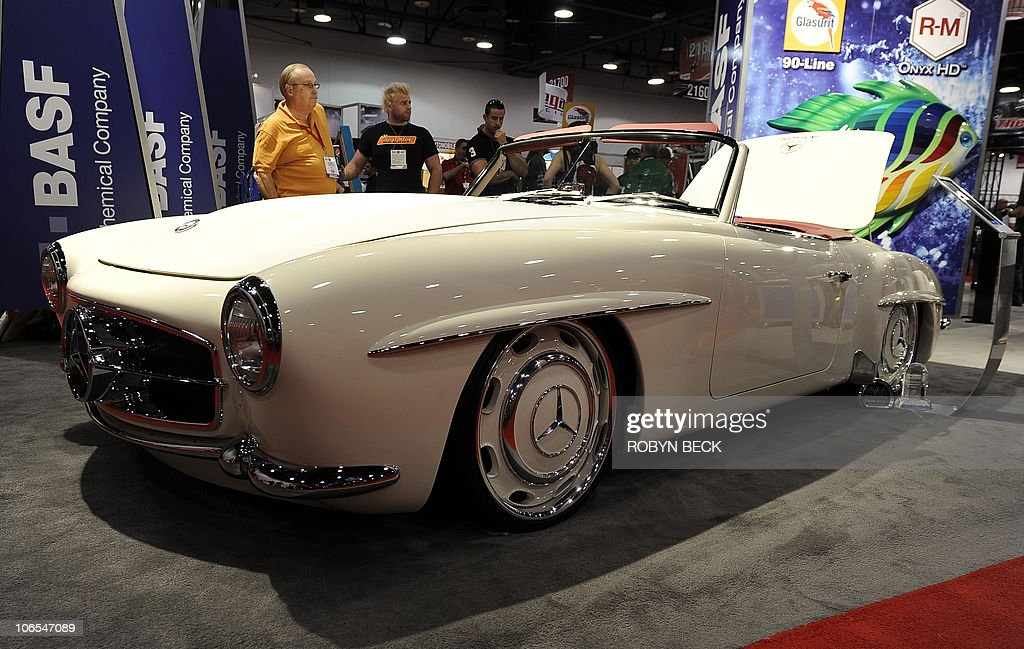 Car show getty images for Mercedes benz trade in value