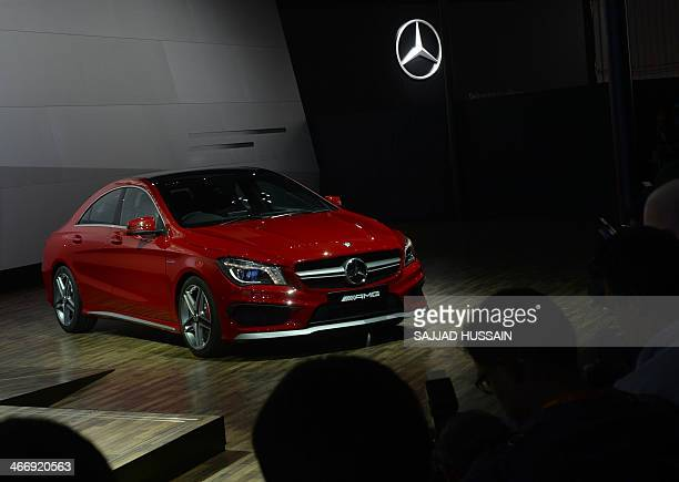 A MercedesBenz AMG car is pictured at the 12th Auto Expo in Greater Noida on the outskirts of New Delhi on February 5 2014 AFP PHOTO/ SAJJAD HUSSAIN