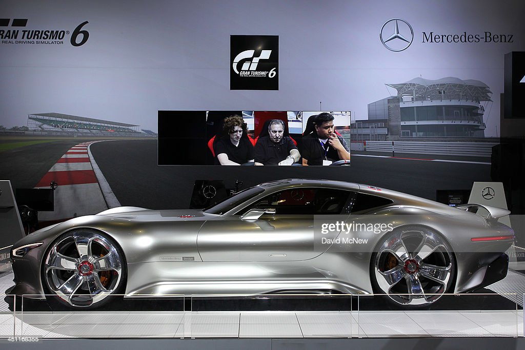 A Mercedes-Benz AMG Vision Gran Turismo is displayed during media preview days at the 2013 Los Angeles Auto Show on November 20, 2013 in Los Angeles, California. The LA Auto Show was founded in 1907 and is one of the largest with more than 20 world debuts expected. The show will be open to the public November 22 through December 1.