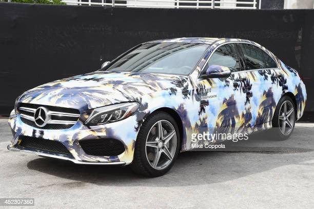 MercedesBenz CClass featuring an exclusive design by Suboo on display during MercedesBenz Fashion Week Swim 2015 at The Raleigh on July 17 2014 in...