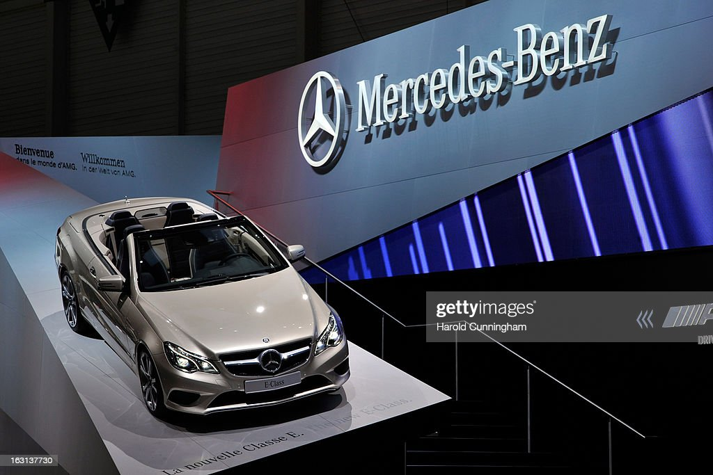 A Mercedes-Benz E-Class is seen during the 83rd Geneva Motor Show on March 5, 2013 in Geneva, Switzerland. Held annually the Geneva Motor Show is one of the world's five most important auto shows with this year's event due to unveil more than 130 new products.