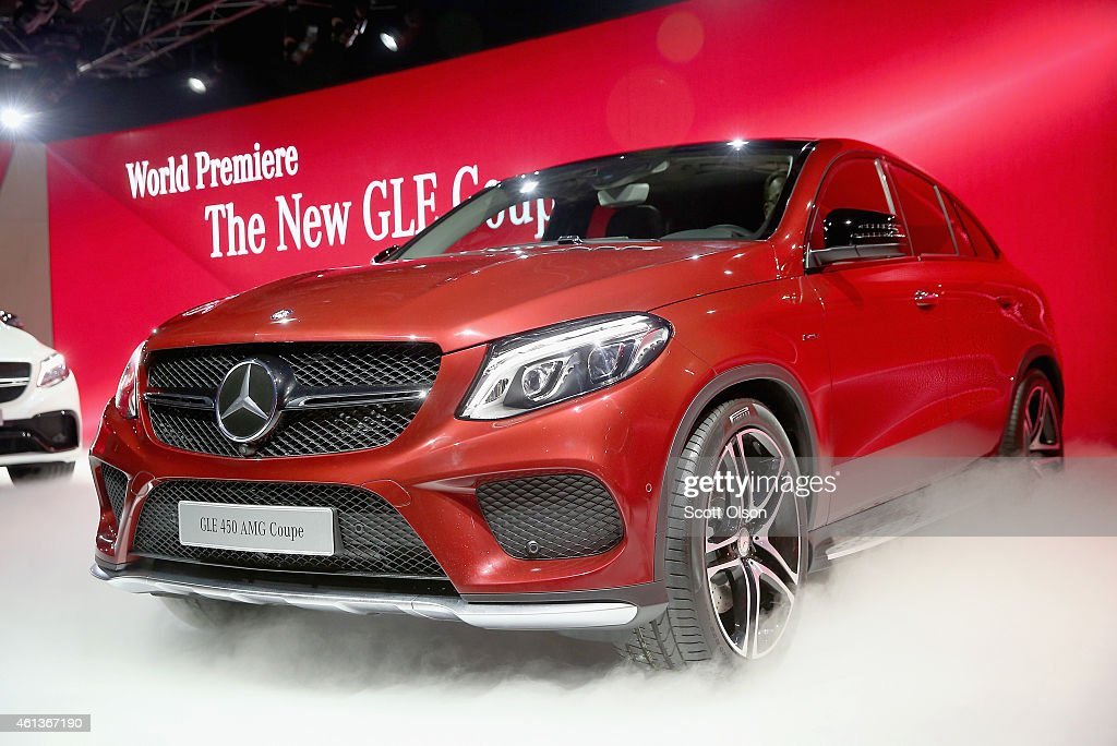 MercedesBenz introduces the GLE 450 AMG Coupe at the North American International Auto Show on January 11 2015 in Detroit Michigan The auto show will...