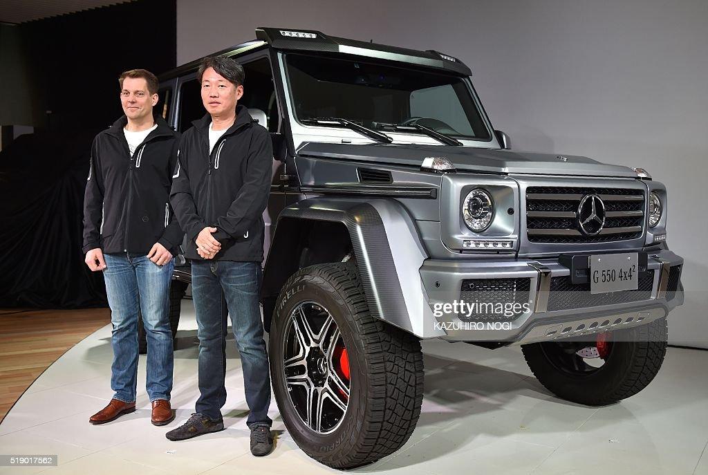 Mercedes benz japan president and ceo kintaro ueno and for Mercedes benz japan